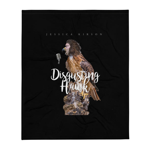 "Jessica Kirson ""Disgusting Hawk"" Extra Soft Throw Blanket"