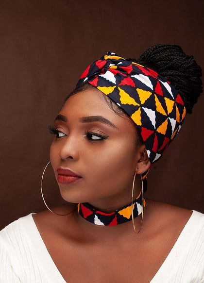 Headwrap and Earrings, african fashion, Black fashion