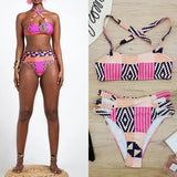 African Tribal Pattern Swimwear women Vintage, Afreekha, Afreekhan Queens, Limited Time Offer, Urban- All African Store