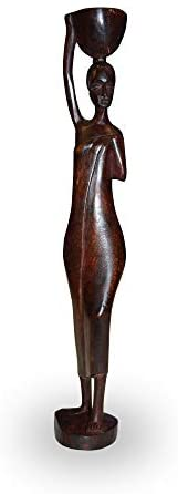 African Gift Shop Handmade Men & Women Statue Made of Wood, Afreekha, Interior decor, spring, statues- All African Store