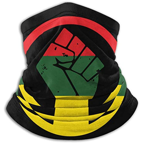 Black Power Face Mask Cover Bandanas Headwear-Apparel-[African Clothing]-[African Knowledge]-[Men's Clothing]-[Women's clothing]-Afreekha