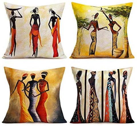 Throw Pillow Covers African Tribe Ethnic-[African Clothing]-[African Knowledge]-[Men's Clothing]-[Women's clothing]-Afreekha