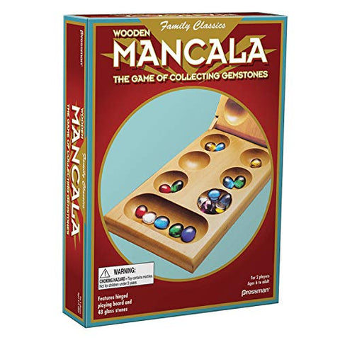 Mancala - Real Wood Folding Set, with Multicolor Stones, Afreekha, Jigsaw Puzzles, Kids & Babies, Toys, zon- All African Store