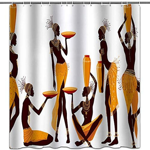 Hipaopao African shower curtain, Afreekha, Interior Decor, room&bedding- All African Store