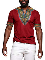 African Print Dashiki T-Shirt Tops Blouse