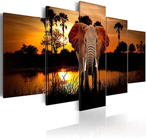 Inzlove Elephant Animal Canvas Wall Art, Afreekha, canvas, Interior decor- All African Store