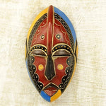 Cece Wood Wall Mounted African Mask-[African Clothing]-[African Knowledge]-[Men's Clothing]-[Women's clothing]-Afreekha