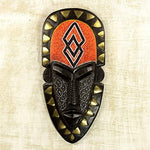 Cece Black & Orange Wood wall mask, Afreekha, Afreekhanmasks, Interior decor, spring- All African Store