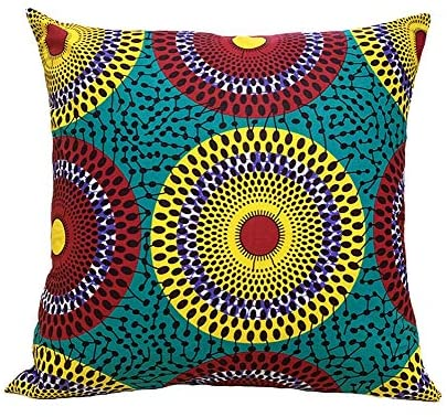 African Print Pillow-[African Clothing]-[African Knowledge]-[Men's Clothing]-[Women's clothing]-Afreekha