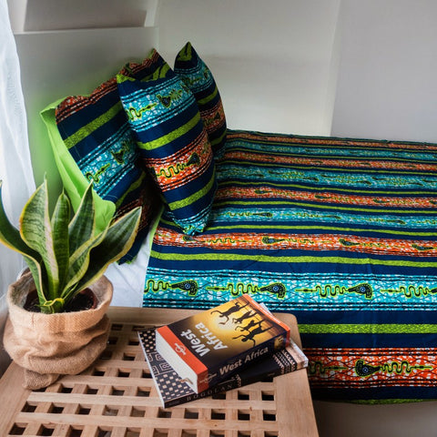 African print duvet cover & pillow set