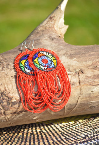 Massai earrings, Afreekha, Accessories, Afreekhan Queens, Earrings, krea- All African Store