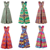 Fashion V-neck Jumpsuit African Dresses, Afreekha, African Queen, dserspress, Jumpsuits, spring, urban- All African Store