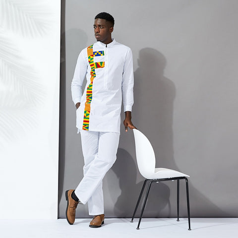 Kente stripe suit, Afreekha, Afreekhan Kings, ali, serspress, spring, Traditional- All African Store