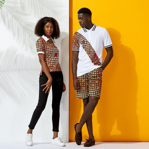 African couple clothes casual-200000707-[African Clothing]-[African Knowledge]-[Men's Clothing]-[Women's clothing]-Afreekha