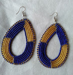 African earrings multicolour