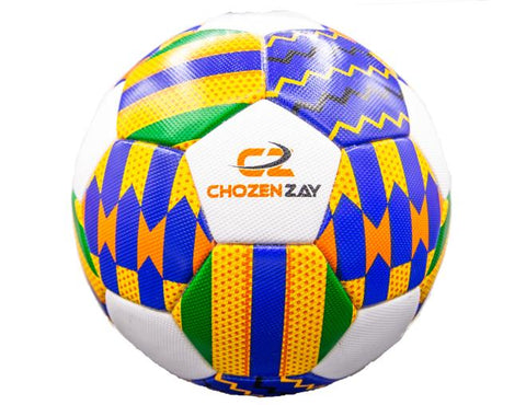 Chozen Zay African Kente cloth Inspired Soccer ball-[African Clothing]-[African Knowledge]-[Men's Clothing]-[Women's clothing]-Afreekha