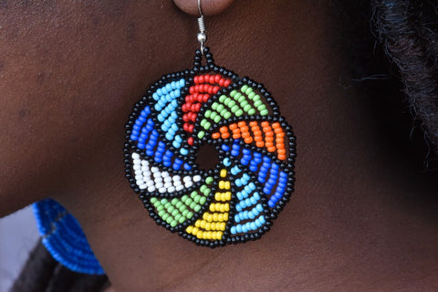 Massai multicolor earrings, Afreekha, Accessories, Afreekhan Queens, Earrings- All African Store