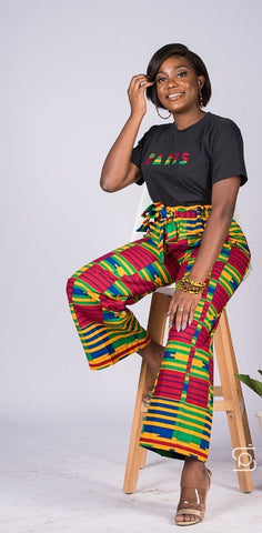 Kente pants - Flared pants and bootcut-[African Clothing]-[African Knowledge]-[Men's Clothing]-[Women's clothing]-Afreekha