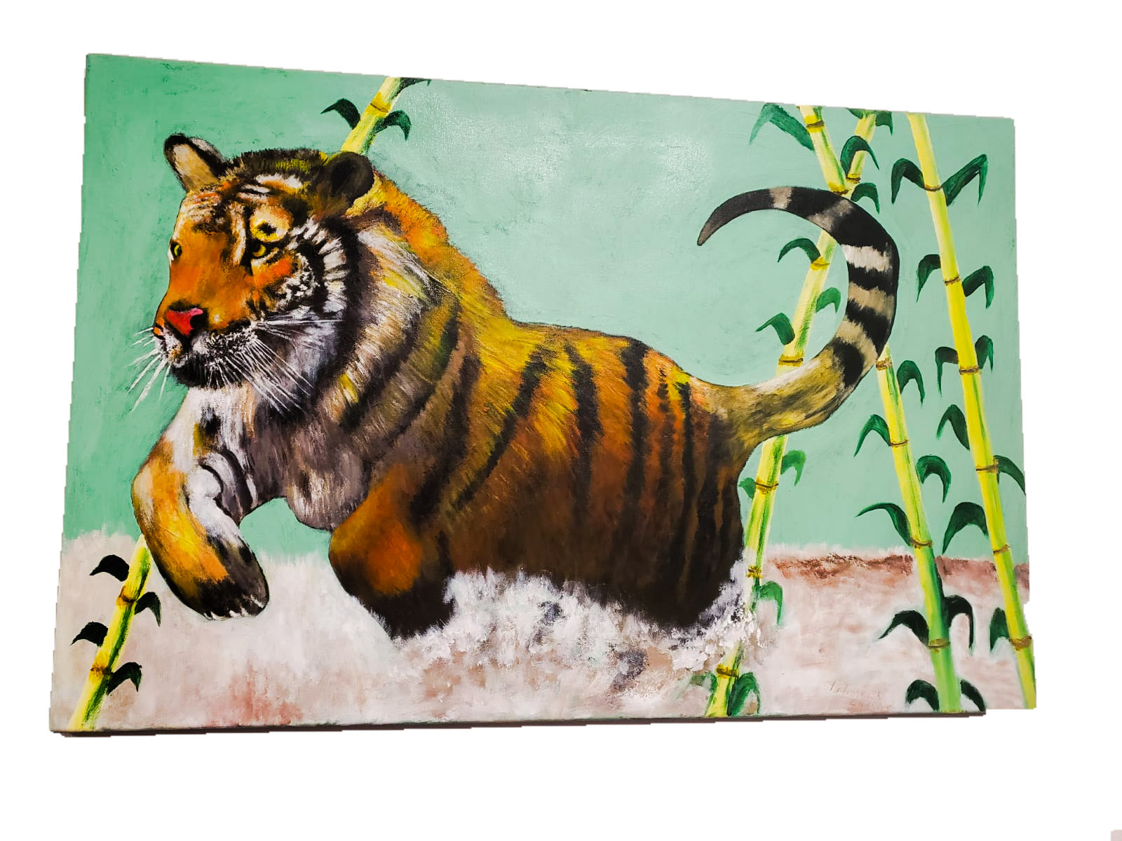African Tiger Canvas-[African Clothing]-[African Knowledge]-[Men's Clothing]-[Women's clothing]-Afreekha