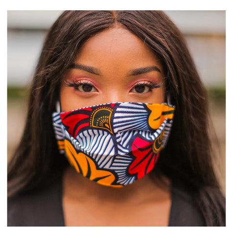 Wax face mask-[African Clothing]-[African Knowledge]-[Men's Clothing]-[Women's clothing]-Afreekha