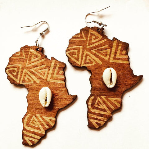 African continent sea shell, afreekha, Accessories, Afreekhan Queens, Earrings- All African Store