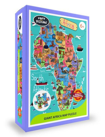 Africa map jigsaw puzzle, Afreekha, Boy & Girl, Jigsaw Puzzles, Kids & Babies, Toys- All African Store