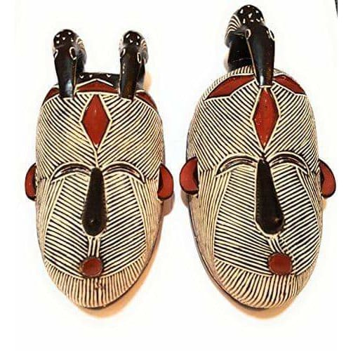 African Art Cameroon Gabon Fang Wall Masks-[African Clothing]-[African Knowledge]-[Men's Clothing]-[Women's clothing]-Afreekha