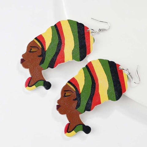 African Reggae Earings, Afreekha, Accessories, Afreekhan Queens, Earrings, Front page, New Apparel, Queens Accessories, Urban- All African Store