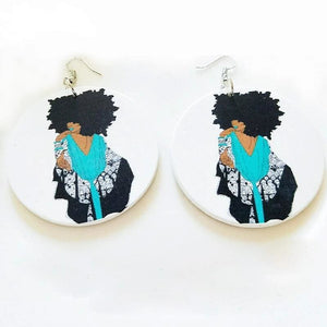 African Wooden Earings-[African Clothing]-[African Knowledge]-[Men's Clothing]-[Women's clothing]-Afreekha