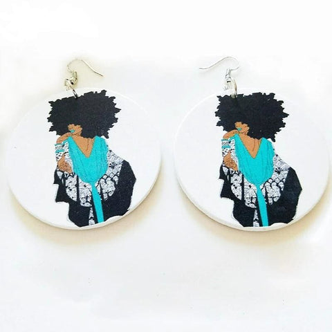African Wooden Earings, Afreekha, Accessories, Afreekhan Queens, Earrings, Front page, Queens Accessories- All African Store