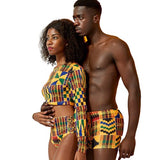African couples clothes swimwear Sexy, Afreekha, Afreekhan Kings, Afreekhan Queens, serspress, spring, urban- All African Store