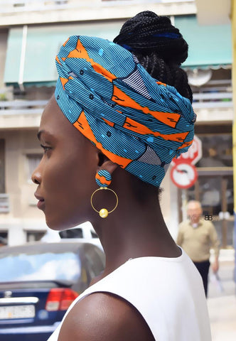 Ainka African fabric earrings