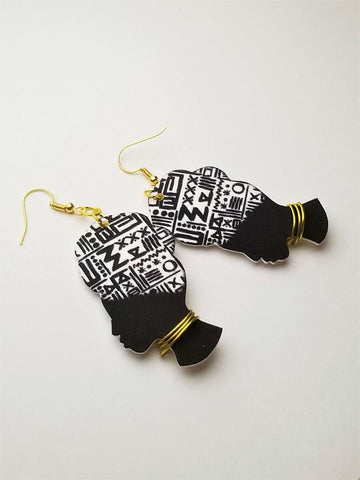 Black Excellence African Woman Earrings