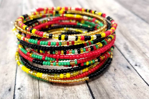 Beaded Wrap Bracelet Set
