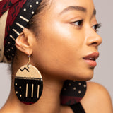 African Tribal Print Earrings Quantity