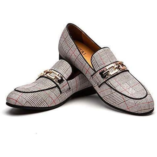 Kings Leather Shoes Pattern Printing Dress Loafer Shoes Slip-on-[African Clothing]-[African Knowledge]-[Men's Clothing]-[Women's clothing]-Afreekha