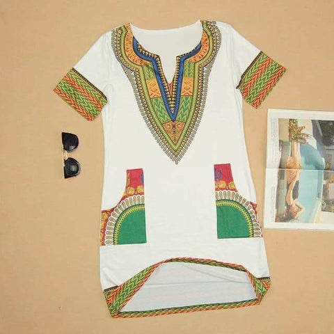 Short Dashiki Dress, Afreekha, Afreekhan Queens, dress, Front page, New Apparel, Queens Dress- All African Store