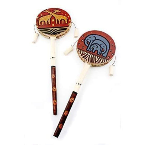 Swahili African Modern Elephant and Giraffe Hand Drum, Afreekha, Kids & Babies, Toys- All African Store