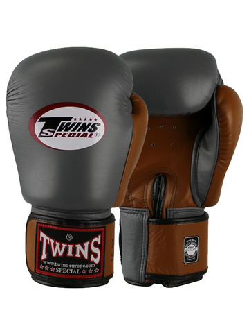 Twins Boxing Gloves BGVL3 Retro - Grey/Brown