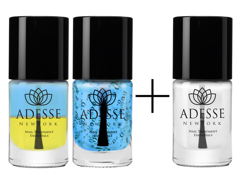 Triple Hydration - Nail & Cuticle Energizer and Marine Algae Duo Set  with Sweet Almond Cuticle Oil - Adesse New York