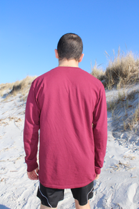 "MAROON ""TRIPLE ARCH"" LONG-SLEEVE"