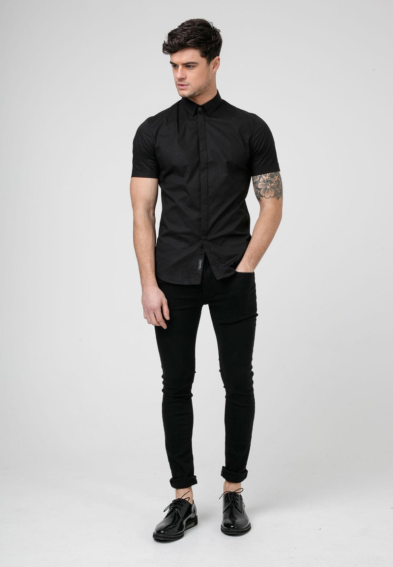 RELIGION League Black Short Sleeves Shirt