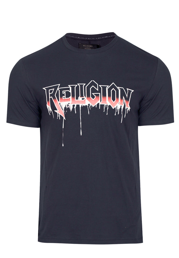 RELIGION DRIPS T-SHIRT WASHED BLACK