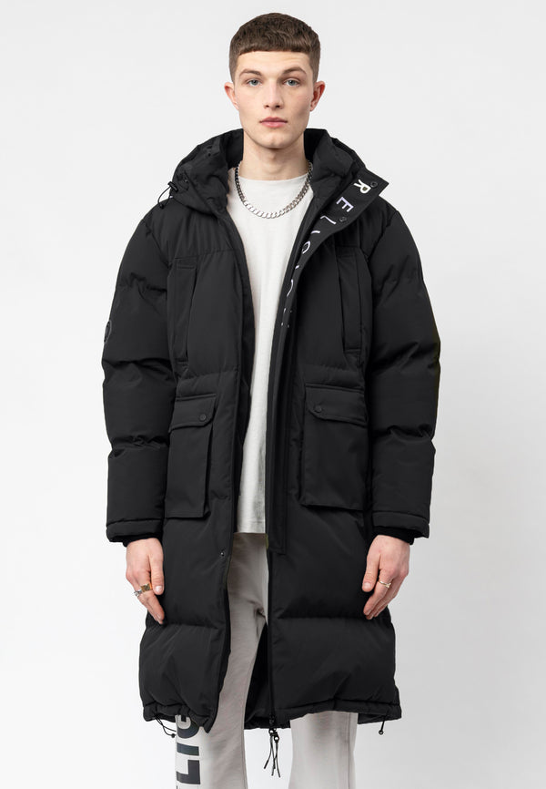 RELIGION Discovery Padded Black Parka