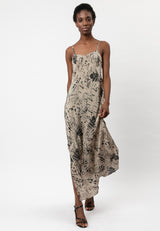 ROOTS SLIP DRESS TAUPE