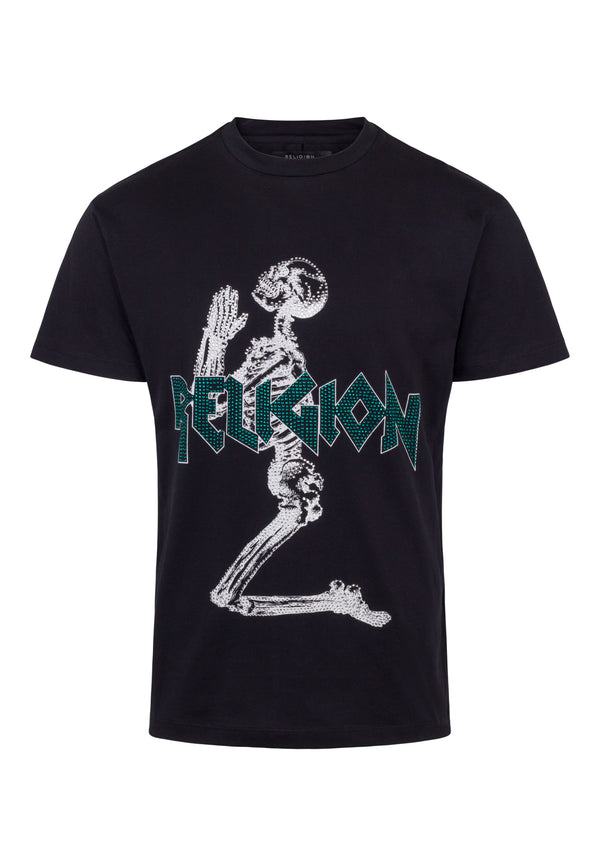 RELIGION Platinum Skeleton Graphic T-Shirt
