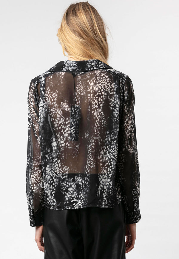RELIGION Marble Shirt All Over Animal Print