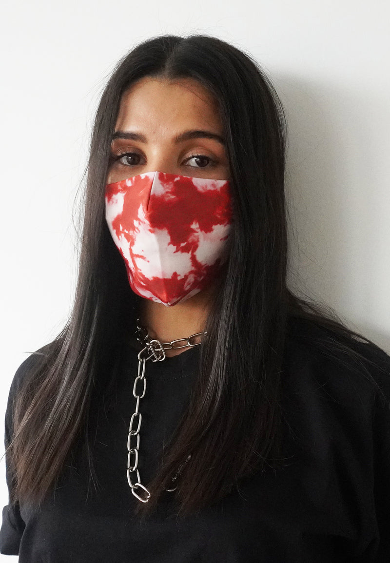 RELIGION Face Mask Tie Dye Red