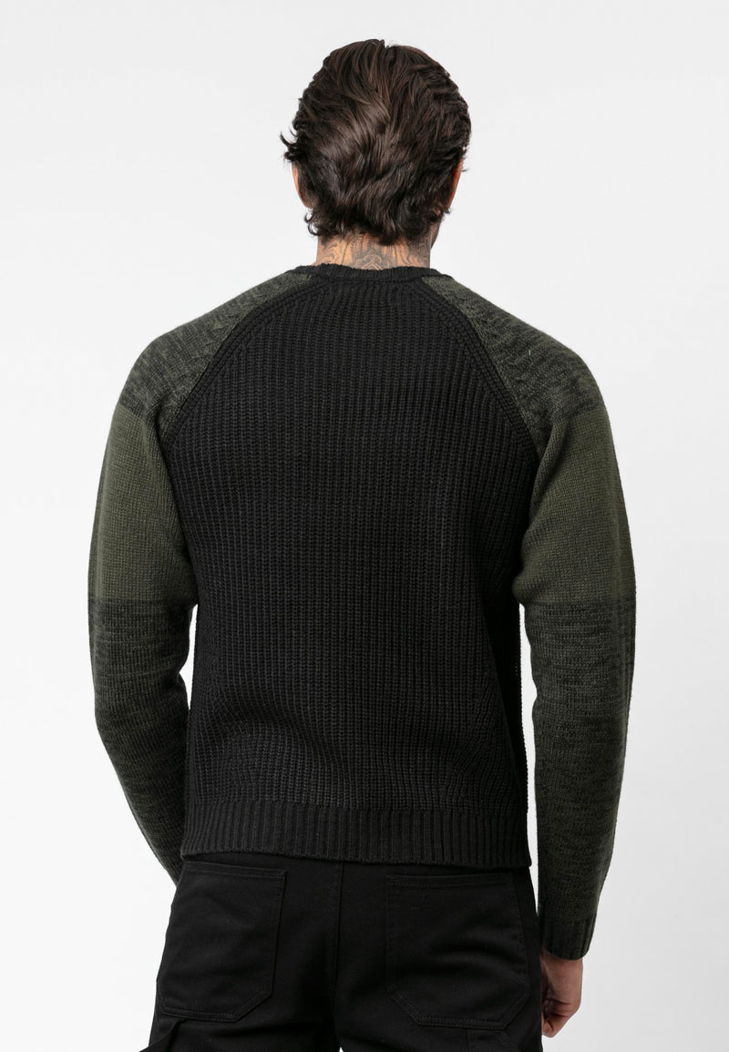 CURSE KNIT KHAKI & BLACK