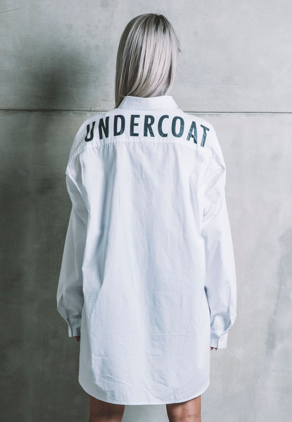 UNDERCOAT Oversized White Shirt